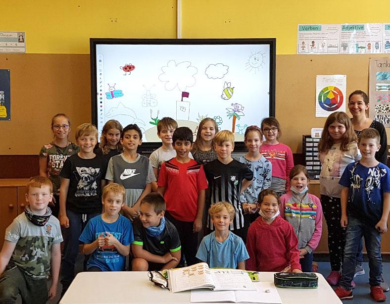 Die Grundschule Eppelborn hat ihre 1. elektronische Tafel!