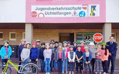 Fahrradausbildung in der Jugendverkehrsschule Uchtelfangen